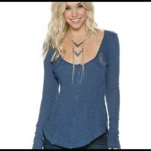 Free People Keepsake Slub Henley